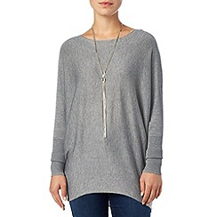 Phase Eight - Grey Marl becca batwing long sleeved jumper