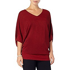 Phase Eight - Deep Red kareena shimmer knit jumper