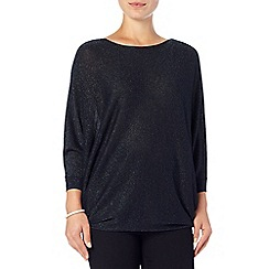 Phase Eight - Navy shimmer becca batwing knit jumper
