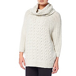 Phase Eight - Winter white 'Marina' cable batwing knit jumper
