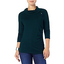 Phase Eight - Forest shaniya split neck knit top