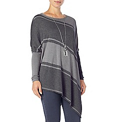 Phase Eight - Stripe Melinda Asymmetric Knit Jumper
