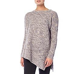 Phase Eight - Neutral chunky melinda asymmetric knit jumper