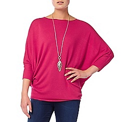 Phase Eight - Cranberry crush 'Becca' batwing jumper
