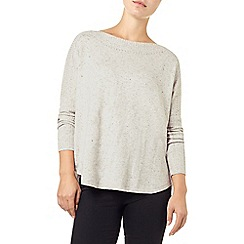 Phase Eight - Natural Ally Woven Back Knit Top