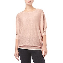 Phase Eight - Powder Pink linen becca batwing jumper