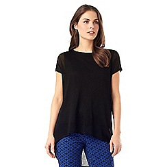 Phase Eight - Carson Sheer Knit Woven Top