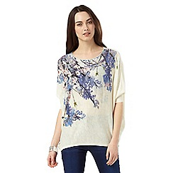 Phase Eight - Aria Trailing Floral Knit Jumper
