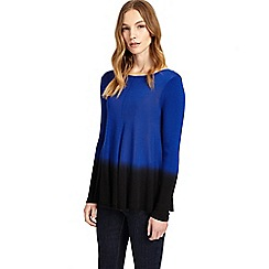 Phase Eight - Cobalt and black dafne dip dye knitted jumper