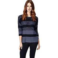 Phase Eight - Denim Annah Subtle Stripe Knitted Jumper