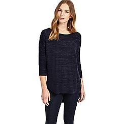 Phase Eight - Navy megg space dye knitted jumper