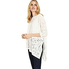 Phase Eight - White melinda stitch detail knitted jumper
