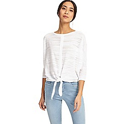 Phase Eight - White felia tie front knit jumper