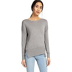 Phase Eight - Grey marl leanna asymmetric knitted jumper