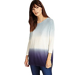 Phase Eight - Soft Blue lynda dip dye knitted jumper