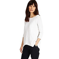 Phase Eight - White alecia textured knitted jumper