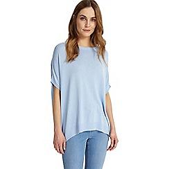 Phase Eight - Soft blue Kirstie ellipse hem knitted top