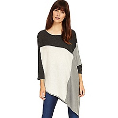 Phase Eight - Grey Melinda colour block knitted jumper