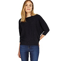 Phase Eight - Navy Becca coloured fleck batwing jumper