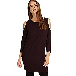 Phase Eight - Merlot Callie cold shoulder tunic top