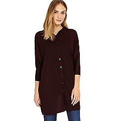 Phase Eight - Merlot Geovana knitted shirt
