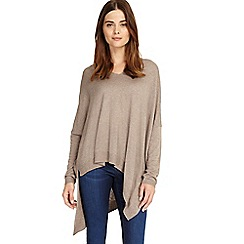 Phase Eight - Brown Abaranne asymmetric knitted jumper