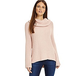Phase Eight - Soft pink 'Cateline' cowl swing knitted jumper