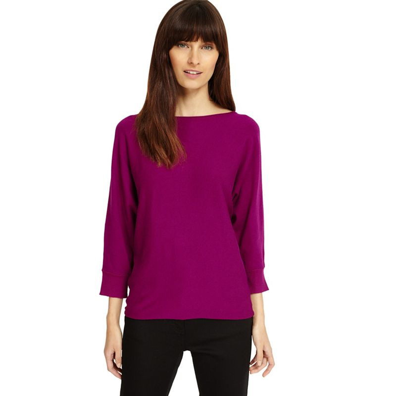 Phase Eight - Boysenberry Becca Smart Batwing Knitted Jumper