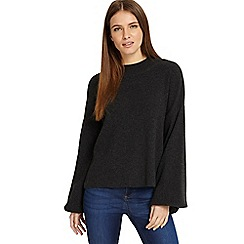 Phase Eight - Dark Charcoal 'Francina' flared sleeves knitted jumper