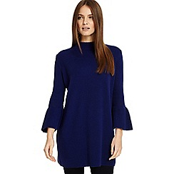 Phase Eight - Cobalt bernetta bell sleeves tunic jumper