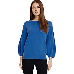Phase Eight - Azure blue bette balloon sleeves knitted jumper