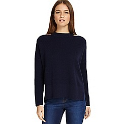 Phase Eight - Navy 'Cammi' cut neck chunky knitted jumper
