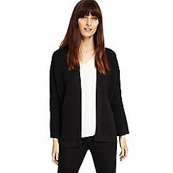 Phase Eight - Black Bobbi ripple stitch knit jacket