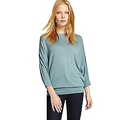Phase Eight - Green becca batwing knit jumper