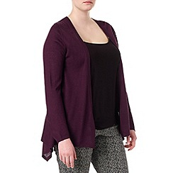 Studio 8 - Sizes 16-24 Claret poppy wool blend cardigan