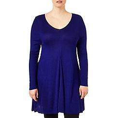 Studio 8 - Sizes 16-24 Purple georgia swing knit tunic
