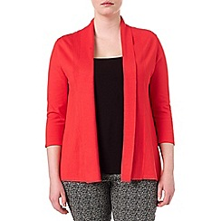Studio 8 - Sizes 16-24 Tangerine molly plain shawl collar cardigan