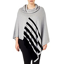 Studio 8 - Sizes 16-24 Slate paloma poncho