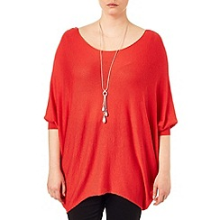 Studio 8 - Sizes 16-24 Tangerine beth batwing jumper