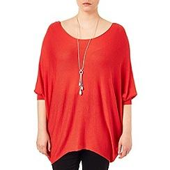 Studio 8 - Sizes 16-24 Tangerine beth batwing knit jumper