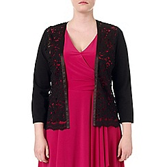 Studio 8 - Sizes 16-24 Black leona lace cardigan