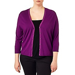 Studio 8 - Sizes 16-24 Orchid jeni v-neck cardigan