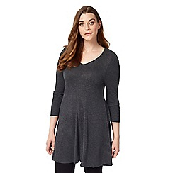 Studio 8 - Sizes 12-26 Charcoal georgia swing tunic