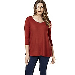 Studio 8 - Sizes 12-26 Russet emilia knitted top