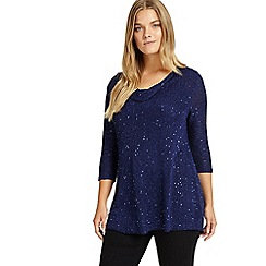 Studio 8 - Sizes 12-26 Blue myah knit top