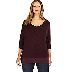 Studio 8 - Sizes 12-26 Deep Wine carmen jumper