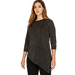 Studio 8 - Sizes 12-26 Silver adele asymmetric jumper