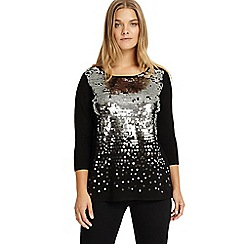 Studio 8 - Sizes 12-26 Black eden sequin jumper