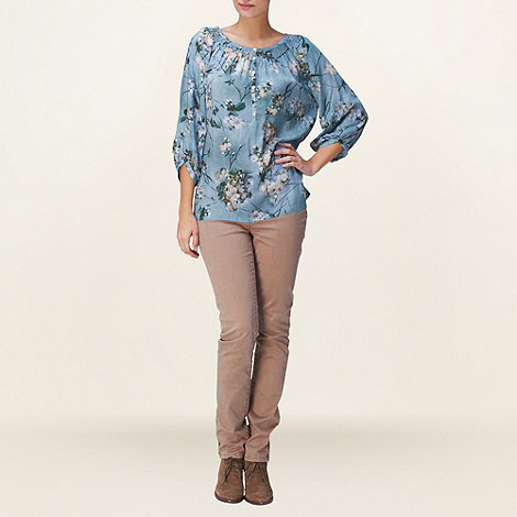 Phase Eight - Purple Hyacinth Blossom Print Blouse