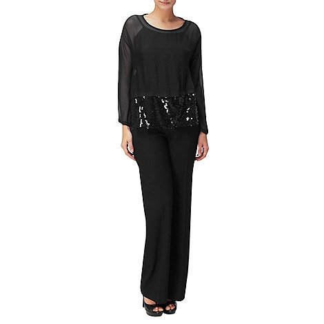 Phase Eight - Black Abri Sequin Blouse
